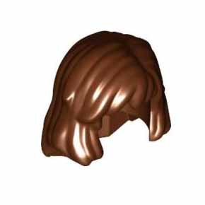 레고 부품 피규어 헤어 적갈색 Reddish Brown Minifigure, Hair Female Mid-Length 4221601