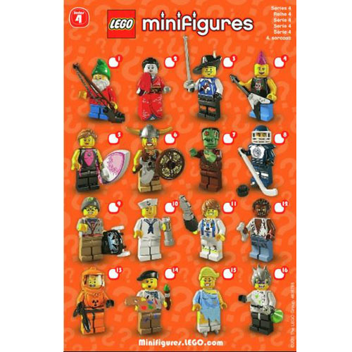 레고 설명서 인스 8804 미니피규어4탄 Minifigure, Series 4 (Complete Random Set of 1 Minifigure) Instruction