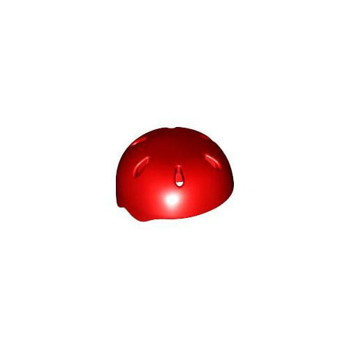 레고 부품 스포츠 헬멧 빨간색 Red Minifigure, Headgear Helmet Sports with Vent Holes 4198312
