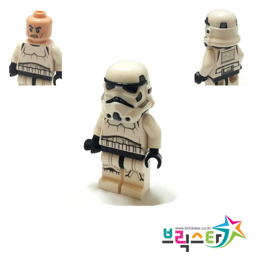 레고 피규어 스타워즈 스톰트루퍼 Stormtrooper (Dual Molded Helmet, Gray Squares on Back)