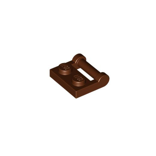 레고 부품 변형 플레이트 적갈색 Reddish Brown Plate, Modified 1 x 2 with Handle on Side - Closed Ends 6236915