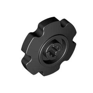 레고 부품 테크닉 휠 검정색 Black Technic Tread Sprocket Wheel Small 4662228