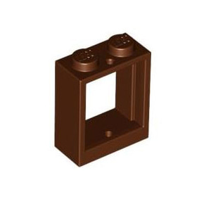 레고 부품 창문 적갈색 Reddish Brown Window 1 x 2 x 2 Flat Front 4595814