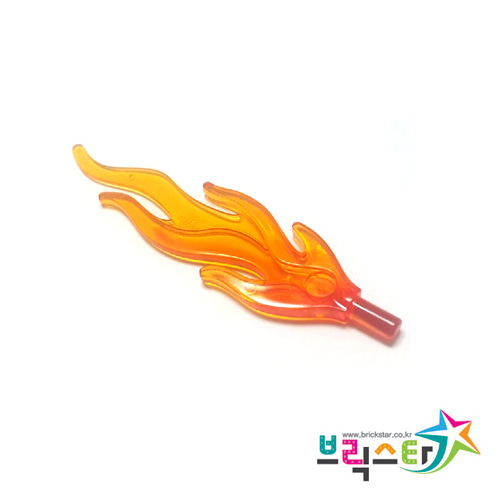 레고 부품 불꽃 투명 레드 투명 오렌지 Trans-Red Wave Rounded Large (Flame) with Marbled Trans-Orange Pattern 4548009