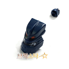 레고 부품 머리 바이오니클 다크 블루 Dark Blue Minifigure, Head Modified Bionicle Piraka Vezok with Eyes and Teeth Pattern
