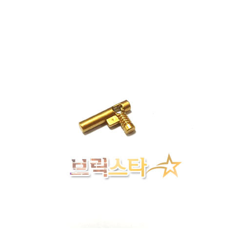 레고 부품 무기 샷건 총  메탈릭 골드 Metallic Gold Minifigure, Utensil Hose Nozzle Elaborate