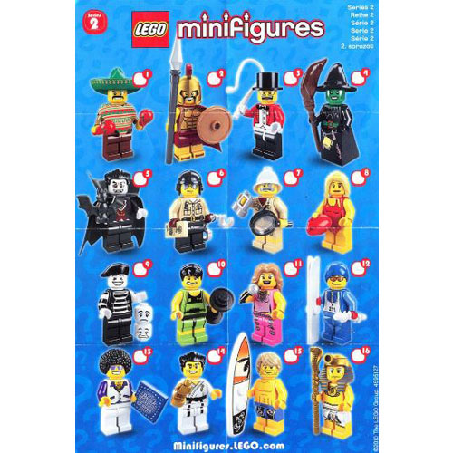 레고 설명서 인스 8684 미니피규어2탄 Minifigure, Series 2 (Complete Random Set of 1 Minifigure) Instruction