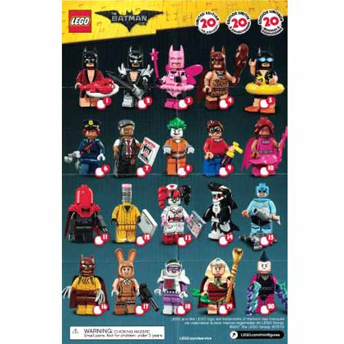 레고 설명서 인스 71017 레고 배트맨 무비 피규어1탄 Minifigure, The LEGO Batman Movie, Series 1 (Complete Random Set of 1 Minifigure) Instruction