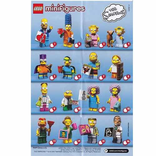 레고 설명서 인스 71009 레고 심슨 피규어 2탄 Minifigure, The Simpsons, Series 2 (Complete Random Set of 1 Minifigure) Instruction