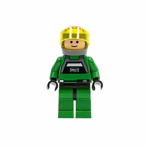 레고 피규어 스타워즈 반란군 A-윙 파일럿 Rebel Pilot A-wing (Light Flesh Head, Trans-Yellow Visor)