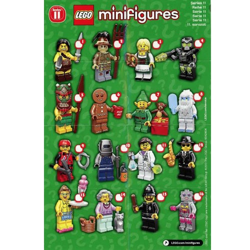 레고 설명서 인스 71002 미니피규어11탄 Minifigure, Series 11 (Complete Random Set of 1 Minifigure) Instruction
