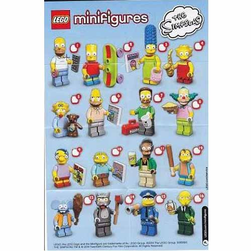 레고 설명서 인스 71005 레고 심슨 피규어 1탄 Minifigure, The Simpsons, Series 1 (Complete Random Set of 1 Minifigure) Instruction