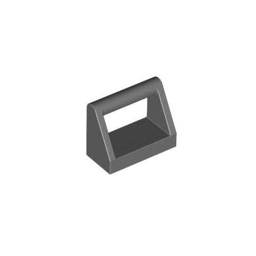 레고 부품 변형 타일 진회색 Dark Bluish Gray Tile, Modified 1 x 2 with Handle 4211039