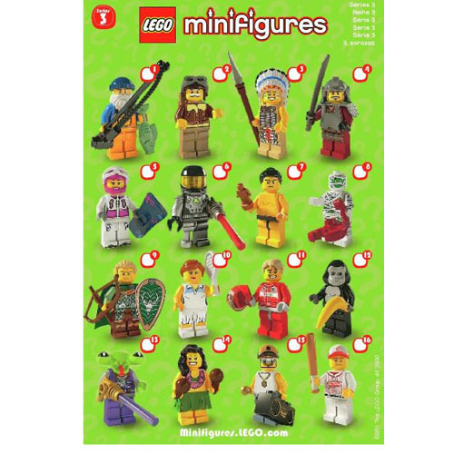 레고 설명서 인스 8803 미니피규어3탄 Minifigure, Series 3(Complete Random Set of 1 Minifigure) Instruction