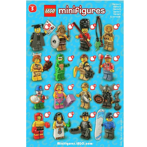 레고 설명서 인스 8805 미니피규어5탄 Minifigure, Series 5 (Complete Random Set of 1 Minifigure) Instruction
