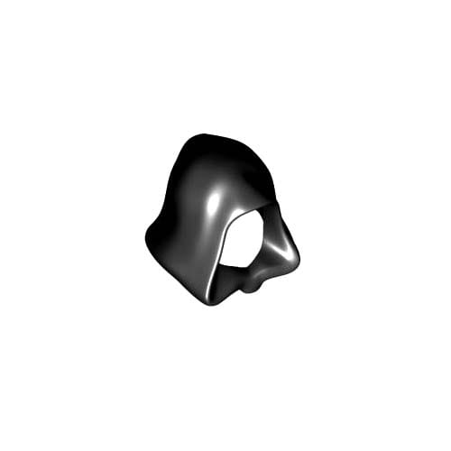 레고 부품 후드 검정색 Black Minifigure, Headgear Hood 6016279
