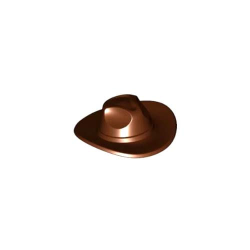 레고 부품 모자 적갈색 Reddish Brown Minifigure, Headgear Hat, Very Wide Brim, Outback Style (Fedora)