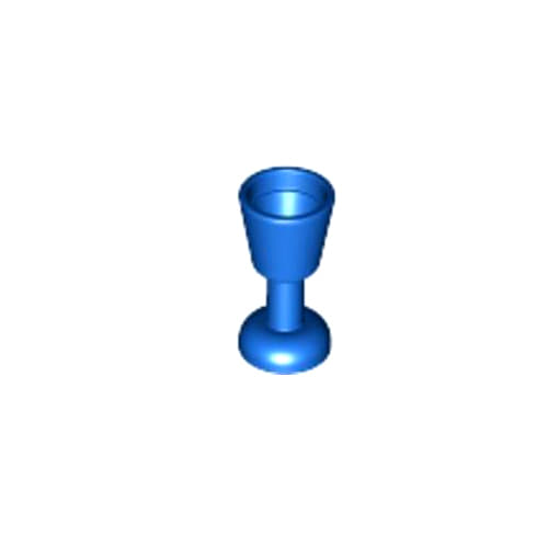 레고 부품 잔 파란색 Blue Minifigure, Utensil Goblet 4163370