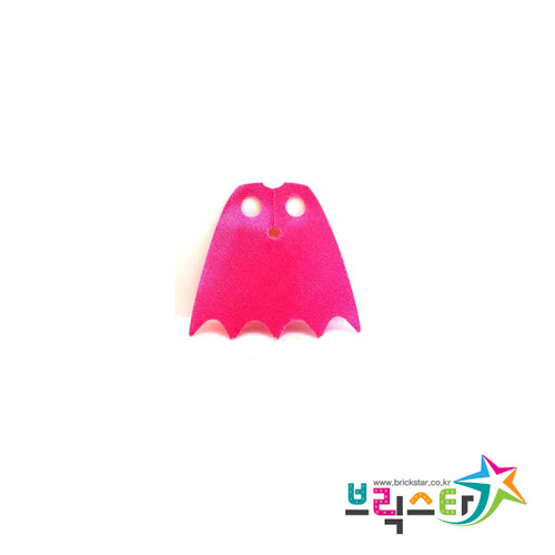 레고 부품 망토 다크 핑크 Dark Pink Minifigure, Cape Cloth, Scalloped 5 Points (Batman)