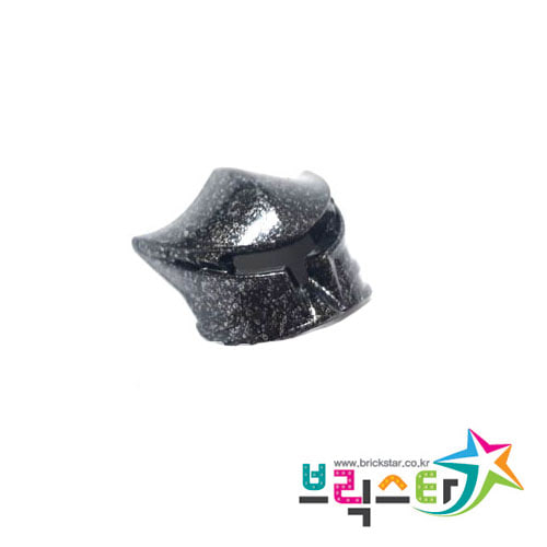 레고 부품 블라덱 바이져 Speckle Black-Silver Minifigure, Visor Fanciful for Vladek 4295062