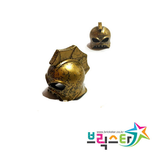레고 부품 식인어 투구 Speckle Black-Gold Minifigure, Headgear Helmet Underwater Atlantis Portal Emperor 4587498