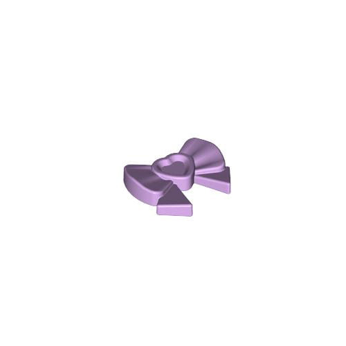레고 부품 악세사리 리본 핀 라벤더 Lavender Friends Accessories Hair Decoration, Bow with Heart, Long Ribbon and Pin 6023826