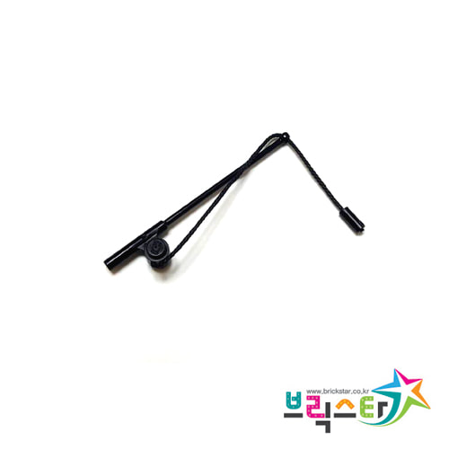 레고 부품 낚시대 검정색 Reddish Brown Minifigure, Utensil Fishing Rod / Pole, 8L 줄 포함