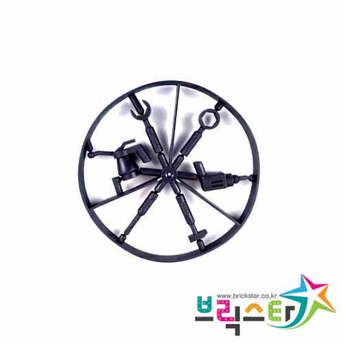 레고 부품 공구 6종 세트 검정색 Black Minifigure, Utensil Tool Wheel, 6 on Sprue