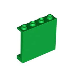 레고 부품 판넬 녹색 Green Panel 1 x 4 x 3 with Side Supports - Hollow Studs 6032918