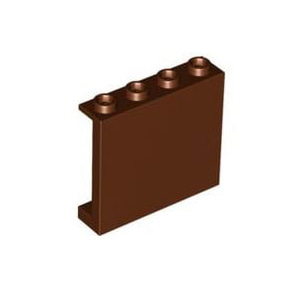 레고 부품 판넬 적갈색 Reddish Brown Panel 1 x 4 x 3 with Side Supports - Hollow Studs 6008326