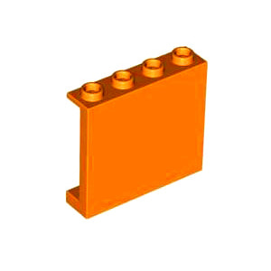 레고 부품 판넬 오렌지색 Orange Panel 1 x 4 x 3 with Side Supports - Hollow Studs 4558210