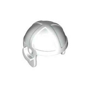 레고 부품 조종사 헬멧 흰색 White Minifigure Headgear Cap Aviator 6152273