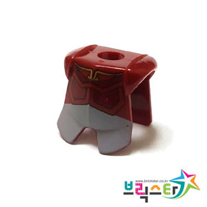 레고 부품 갑옷 다크 레드 Dark Red Minifigure Armor Breastplate with Leg Protection, Avatar Prince Zuko Pattern