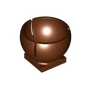 레고 부품 실린더 적갈색 Reddish Brown Cylinder Hemisphere 2 x 2 Ball Turret Socket Base 4504277