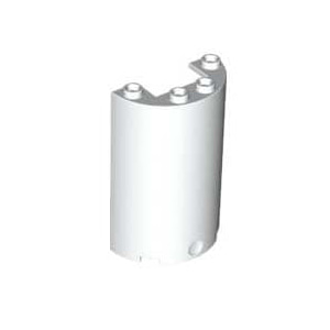 레고 부품 실린더 흰색 White Cylinder Half 2 x 4 x 5 with 1 x 2 Cutout 6246885