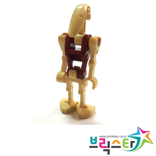 레고 피규어 스타워즈 보안 드로이드 Battle Droid Security with Straight Arm and Dark Red Torso
