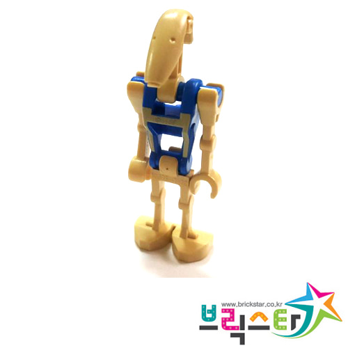레고 피규어 스타워즈 배틀 드로이드 파일럿 Battle Droid Pilot with Blue Torso with Tan Insignia and One Straight Arm