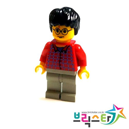 레고 피규어 해리포터 Harry Potter, Red Shirt Torso, Light Gray Legs 4728