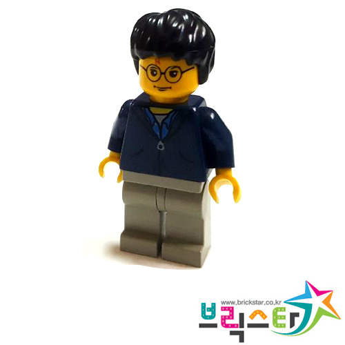 레고 피규어 해리포터 Harry Potter, Dark Blue Jacket Torso, Light Gray Legs 4727