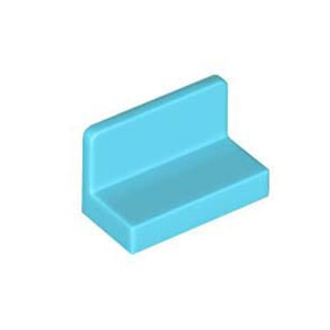 레고 부품 판넬 미디엄 하늘색 Medium Azure Panel 1 x 2 x 1 with Rounded Corners 4618647