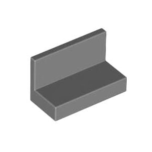 레고 부품 판넬 진회색 Dark Bliush Gray Panel 1 x 2 x 1 with Rounded Corners 4271950 6146225