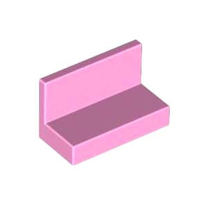레고 부품 판넬 밝은 핑크 Bright Pink Panel 1 x 2 x 1 with Rounded Corners 4619591