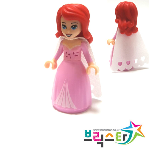 레고 피규어 디즈니 프린세스 에리얼 Ariel - Bright Pink Dress with Magenta Stars, White Cape 41153