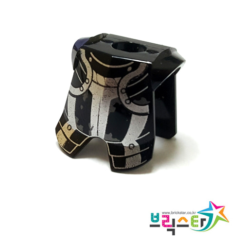 레고 부품 갑옷 킹덤 검정색 Black Minifigure, Armor Breastplate with Leg Protection, Kingdoms Silver Pattern 6054441