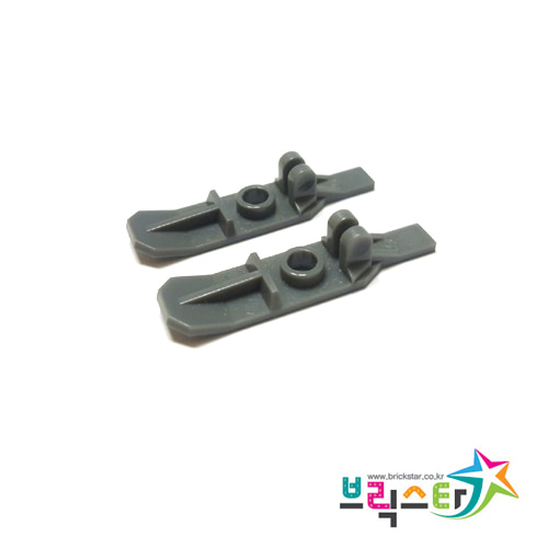 레고 부품 스키 세트 진회색 Dark Bluish Gray Minifigure, Utensil Ski with Hinge Set