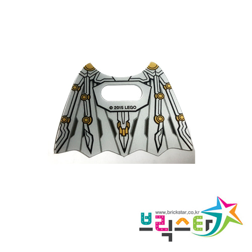 레고 부품 배트맨 플라스틱 필름 날개 Trans-Clear Minifigure, Wings Batman Space Collapsed with Center Opening and Black and Gold Pattern