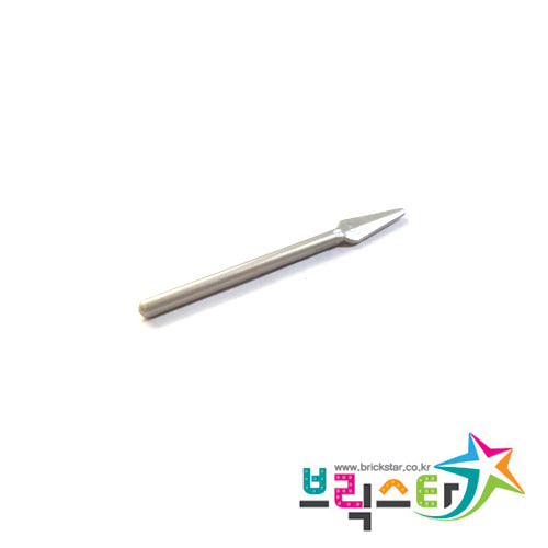 레고 부품 무기 창 진주빛 밝은 회색 Pearl Light Gray Minifigure, Weapon Pike / Spear - Round End